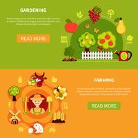 Landwirtschaft und Gartenarbeit Banner vektor