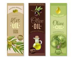 Olive vertikale Banner gesetzt vektor