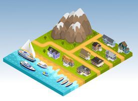 Isometrische Zusammensetzung der Meereslinie