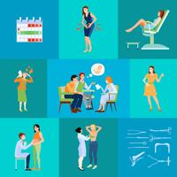 Frauenarzt Flache Zusammensetzung
