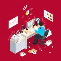 Isometrische Zusammensetzung der Deadline Office