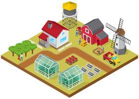 Bauernhof isometrische Spiel Modell Icon