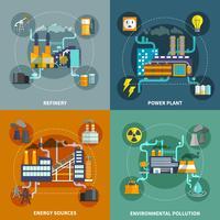 Industriell platta samlingslayout