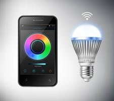smart LED-lampa vektor