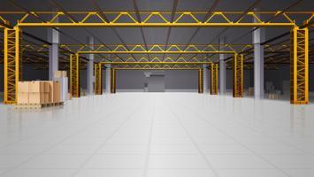 Warehouse Realistic Bakgrund