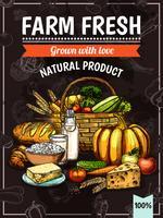 lantbruksprodukter affisch vektor