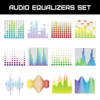 Audio-Equalizer-Set vektor