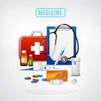 Medizinische Werkzeuge Kit Hintergrund
