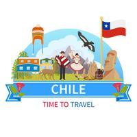 Chile Vektor Zusammensetzung