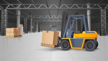 Lagerinnenraum und Logistik-Hintergrund vektor