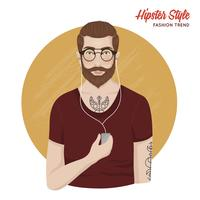 Hipster Style Mall vektor