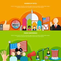 Valkonferens och omröstning vektor