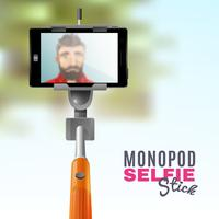 monopod selfie illustration vektor