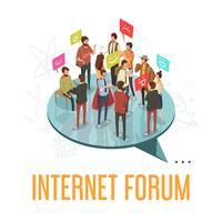 Forum samhälle koncept vektor