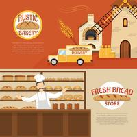 Bäckerei-horizontale Banner