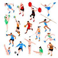 Sportisometrisk uppsättning vektor