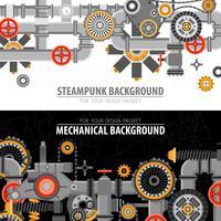 Abstrakta Teknologiska Horisontella Banderoller