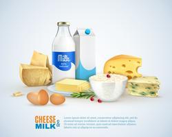 Milchprodukte-Vorlage