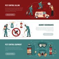 Skadedjurskontroll Horisontella Banderoller