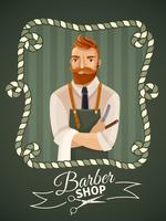 Barbershop affischmall