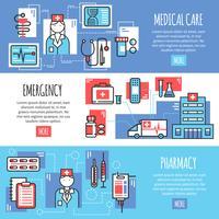 Medicinska Horisontella Banderoller