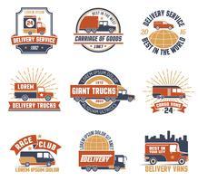 Logo-Emblem-Set für Lieferungen