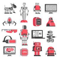 Konstgjorda Intelligens Dekorativa Ikoner Set