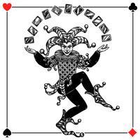 Joker bakgrunds illustration vektor
