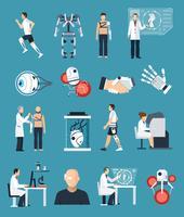 Bionics Ikoner Set vektor