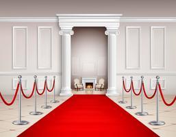 Innenraum des roten Teppichs