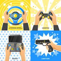 Spiel Gadget 2x2 Design-Konzept vektor