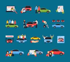 Carsharing Ikoner Set