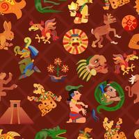 Maya-nahtloses Muster vektor