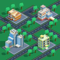 Gebäude isometrische Set