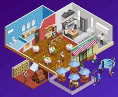 Restaurant-Innenraumkonzept vektor
