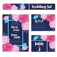 Spara bröllopsdaginbjudningskort