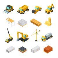 isometriska konstruktion ikoner uppsättning