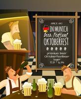 Oktoberfest i Pub Illustration