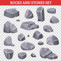 Stora och små gråa stenar och stenar vektor
