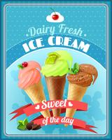 Eiscreme-Plakat