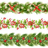 Jul Berry Border Seamless Pattern Set