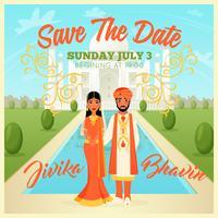 Inder, die Paar-Plakat Wedding sind