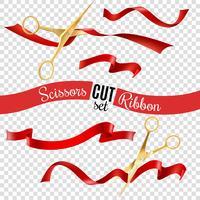 Saks och Ribbons Transparent Set vektor
