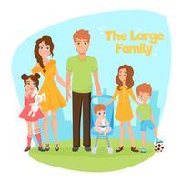 Stor familjillustration