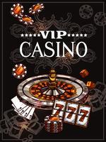 Skizzen-Kasino-Plakat vektor
