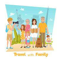 Familienreise-Illustration