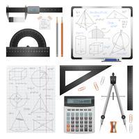 Matematiska vetenskapliga bilder Set