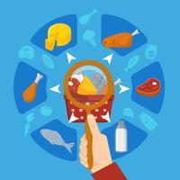 Runde Zusammensetzung des Lebensmittel-Supermarkt-Objektivs in der Hand