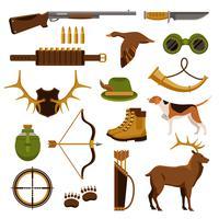 Schießen und Jagd Set vektor