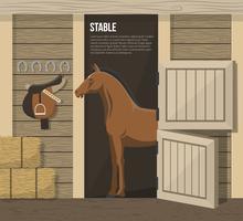 Pferdezucht Farm Stable Stall Poster